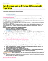 PSYC 2290 Chapter Notes - Chapter 8: Fluid And Crystallized Intelligence, Theory Of Multiple Intelligences, Habituation