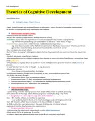 PSYC 2290 Chapter Notes - Chapter 6: Cognitive Development, Child Development, 18 Months
