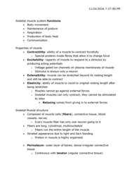 KINESIOL 1A03 Lecture Notes - Lecture 16: T-Tubule, Myoglobin, Myocyte