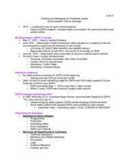 SPM 205 Lecture Notes - Lecture 10: Sportscenter, Anheuser-Busch, Getty Oil