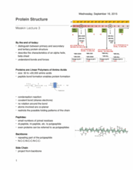 Biochemistry 2280A Lecture Notes - Lecture 4: Proline, Van Der Waals Force, Aromatase