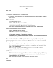 SOCIOL 2S06 Lecture Notes - Lecture 1: The Communist Manifesto, Middle Ages, The Proletariat