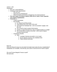 HIST1055 Lecture Notes - Lecture 1: Ming Dynasty, Zheng He