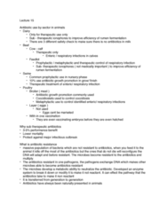 AGRC 112 Lecture Notes - Lecture 15: Biome, Ionophore, Antimicrobial Resistance