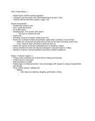 AGRC 112 Lecture Notes - Lecture 8: Germination, Hordeum, Endosperm
