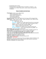 NURS 337 Study Guide - Final Guide: Pulse Oximetry, Pulmonary Aspiration, Perspiration