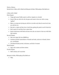 HIST 3010 Lecture Notes - Lecture 27: Society Of Dilettanti, Sexual Objectification, Freethought