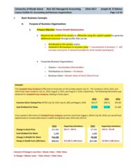 BUS 202 Lecture Notes - Lecture 1: Finished Good, Treasury Stock, Deferral