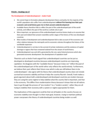 POL201Y1 Lecture Notes - Lecture 3: Modernization Theory