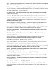 BUSI 3309 Study Guide - Final Guide: Critical Path Method