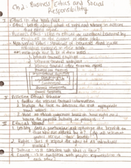 BUS 100 Lecture 3: Chapter 2 Notes