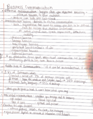 BUS 100 Lecture 10: Business Communication Notes