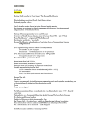 CULS30002 Lecture Notes - Lecture 9: Kim Young-Sam, Park Chung-Hee, 1997 Asian Financial Crisis