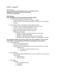 COM 107 Study Guide - Final Guide: Edward Bernays, American Tobacco Company, Boogie 2Nite