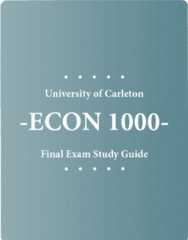 ECON 1000 Study Guide - Final Guide: Marginal Cost, Tax Rate, Demand Curve