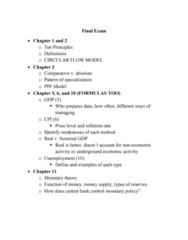 ECON 2113 Study Guide - Final Guide: Absolute Advantage, Comparative Advantage, Nominal Interest Rate