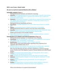 BIOL 1200 Midterm: Exam 1 Study Guide Part 1