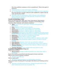 BIOL 1200 Midterm: Exam 1 Study Guide Part 2