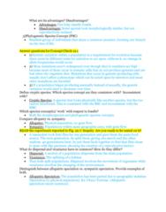 BIOL 1200 Midterm: Exam 2 Study Guide Part 2