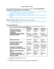 BIOL 1200 Midterm: Exam 3 Study Guide Part 1