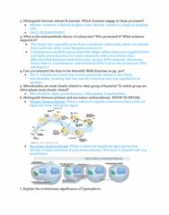 BIOL 1200 Midterm: Exam 3 Study Guide Part 2
