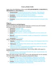 BIOL 1200 Midterm: Exam 4 Study Guide Part 1