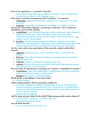BIOL 1200 Midterm: Exam 4 Study Guide Part 3