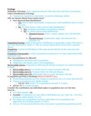 BIOL 1200 Midterm: Exam 4 Study Guide Part 4