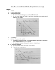 ECON 20A Lecture 5: Theory of Supply and Demand