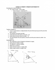 ECON 20A Lecture 11: Market Equilibrium and Failure