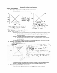 ECON 20A Lecture 8: Policy - Price Controls