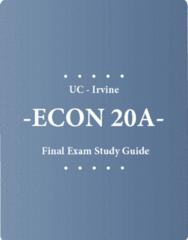 ECON 20A Final: Final Exam Study Guide