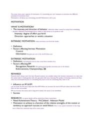EXB 102 Lecture Notes - Lecture 9: Motivation