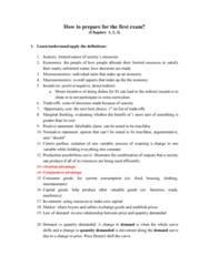 ECON 2113 Study Guide - Midterm Guide: Ceteris Paribus, Positive Statement, Absolute Advantage
