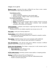 ECON 2113 Study Guide - Final Guide: Monopolistic Competition, Deadweight Loss, Natural Monopoly