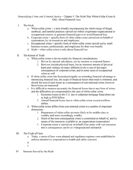 CRJU 20423 Chapter Notes - Chapter 9: Mortgage Fraud, Corporate Crime