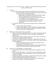 CRJU 20423 Chapter Notes - Chapter 4: The Weekly Standard, Juvenile Court, Central Park Jogger Case