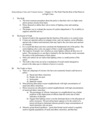 CRJU 20423 Chapter Notes - Chapter 14: Minority Group