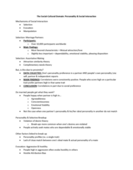 PSYC 2740 Lecture Notes - Lecture 14: Conscientiousness, Machiavellianism, Narcissism