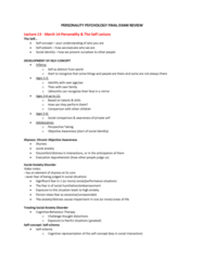 PSYC 2740 Study Guide - Final Guide: Social Anxiety Disorder, Shyness, Social Comparison Theory