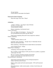 ANTH 1210 Lecture Notes - Lecture 5: Paleoanthropology, Sedentism, Syphilis