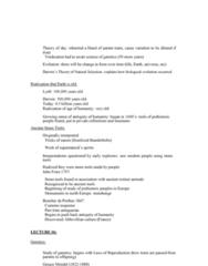 ANTH 1210 Lecture Notes - Lecture 13: John Frere, Gregor Mendel, Abbevillian
