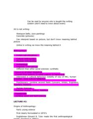 ANTH 1210 Chapter Notes - Chapter 1: Edward Burnett Tylor