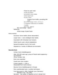 ANTH 1210 Chapter Notes - Chapter 6: Homo Heidelbergensis, Homo Habilis, Homo Erectus