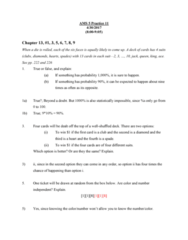AMS 5 Chapter Notes - Chapter 13: 5,6,7,8