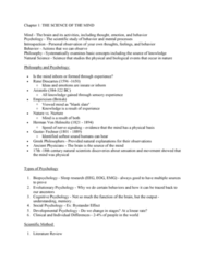 PSYC 101 Lecture Notes - Lecture 1: Gustav Fechner, Tabula Rasa, Behavioral Neuroscience