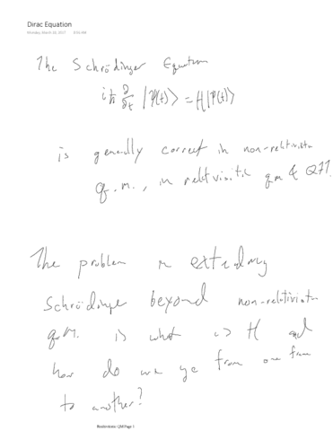 phys-gr6038-lecture-14-dirac-and-klein-gordon-equations-and-review-of-relativistic-notation-march-20