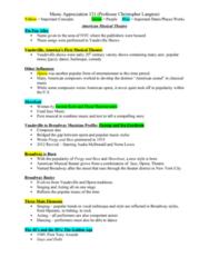 MUS 121 Lecture Notes - Lecture 5: John B. Larson, Agnes De Mille, Stephen Sondheim