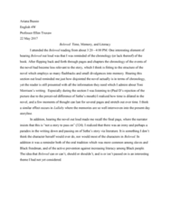 ENGL 4W Chapter 1-30: BelovedReadingReflection (2)
