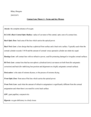 CL101 Study Guide - Midterm Guide: Allergic Conjunctivitis, Optical Power, Desiccation